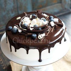 украсить торт птичье молоко фото