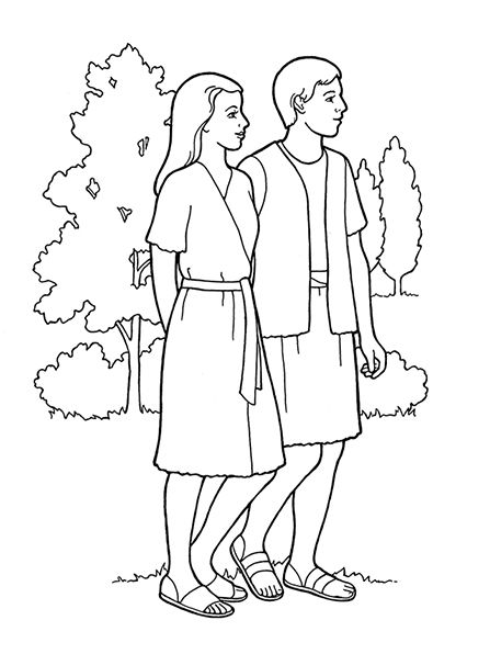 Adam And Eve Coloring Sheet Sunday School Coloring Pages Adam