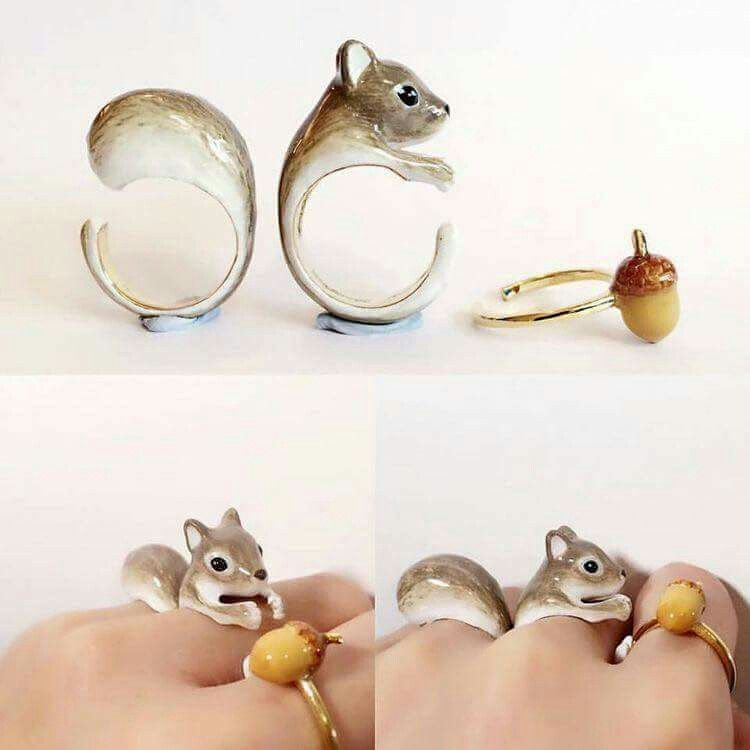 7bd6bb6e22f3 Squirrel and nut rings Pulsera Anillo
