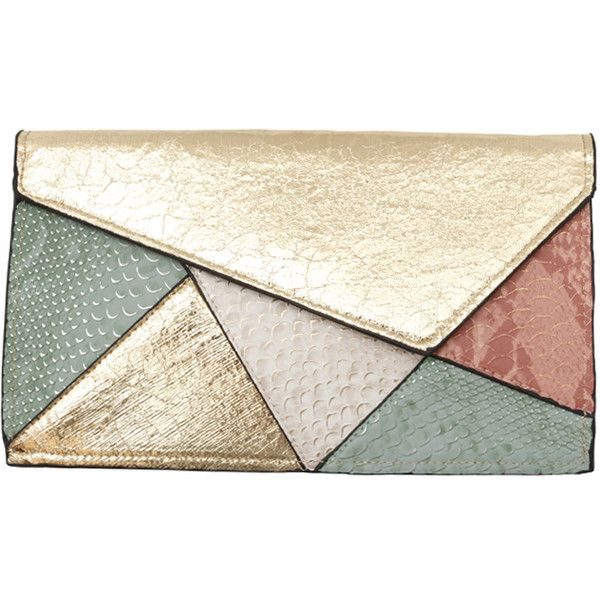 Joia Pastel Colourblock Clutch/Crossbody ❤ liked on Polyvore featuring bags, handbags, clutches, purses, accessories, chain crossbody, handbag purse, colorblock handbags, crossbody chain purse and envelope clutch