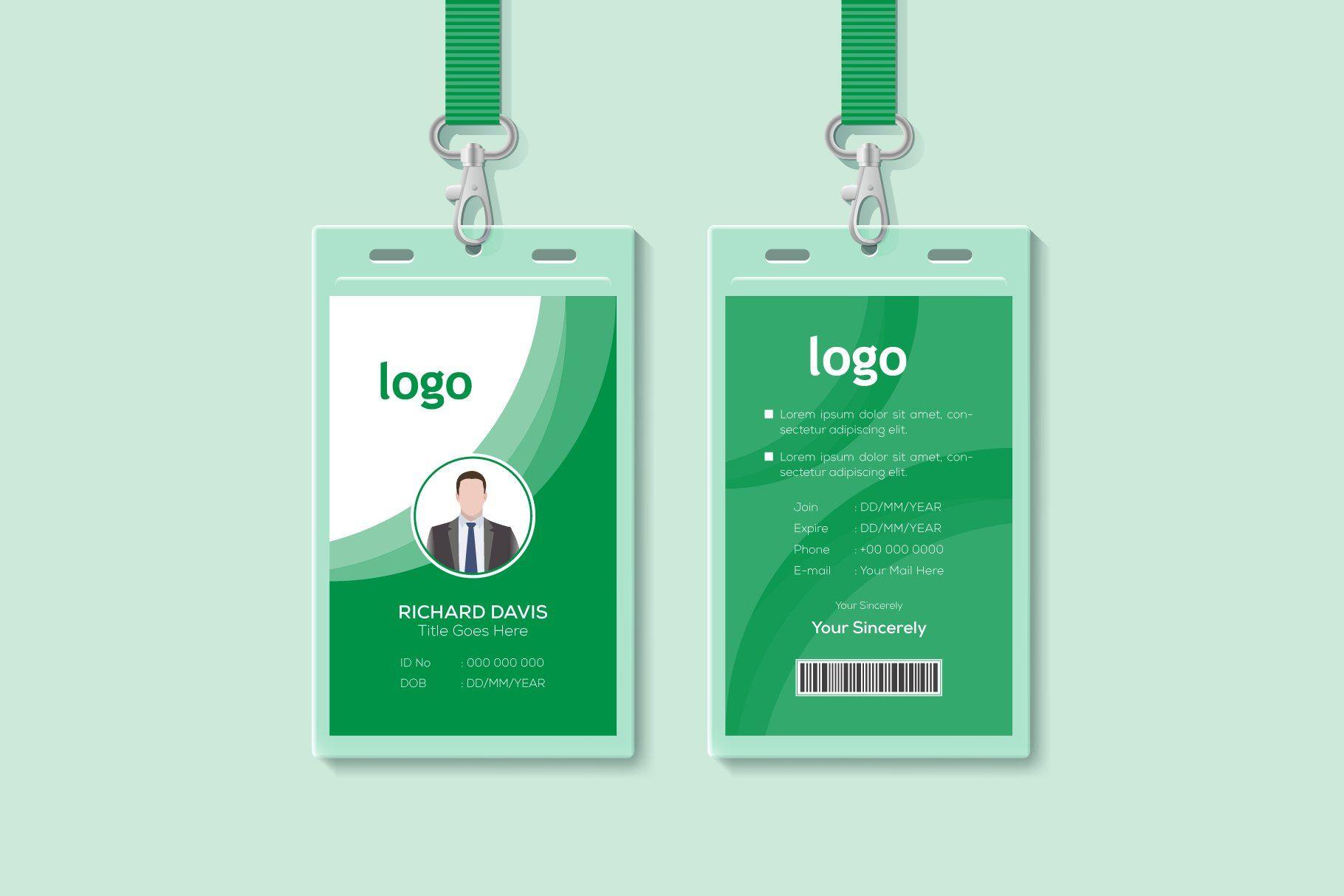 Employee id card template in 2020 employee id card id