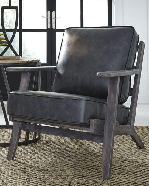 Remarkable Trebbin Dark Brown Accent Chair Products Brown Accent Ocoug Best Dining Table And Chair Ideas Images Ocougorg