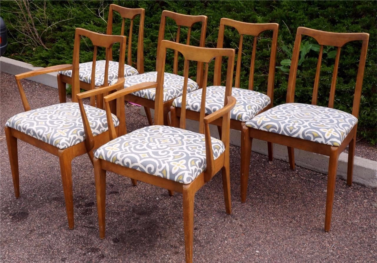 Set Of Six Mid Century Modern Dining Room Chairsdrexel W 2 Alluring Dining Room Chairs Mid Century Modern Design Ideas