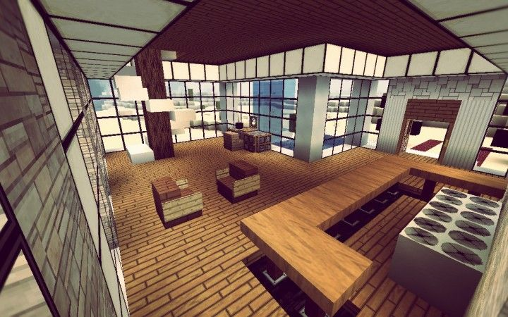 Great Modern Minecraft Home Interior (I Need To Make This!   JW)