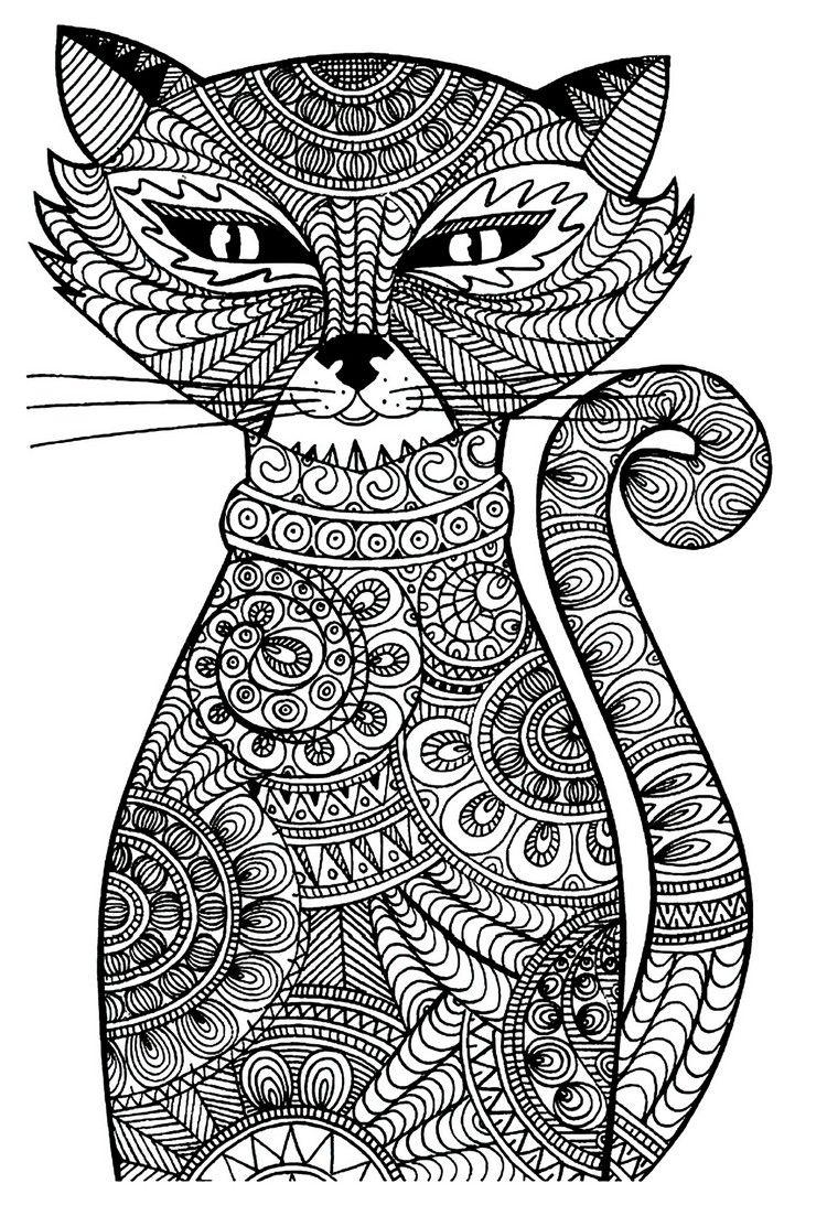 ausmalbilder für erwachsene tiere katze 1147 malvorlage