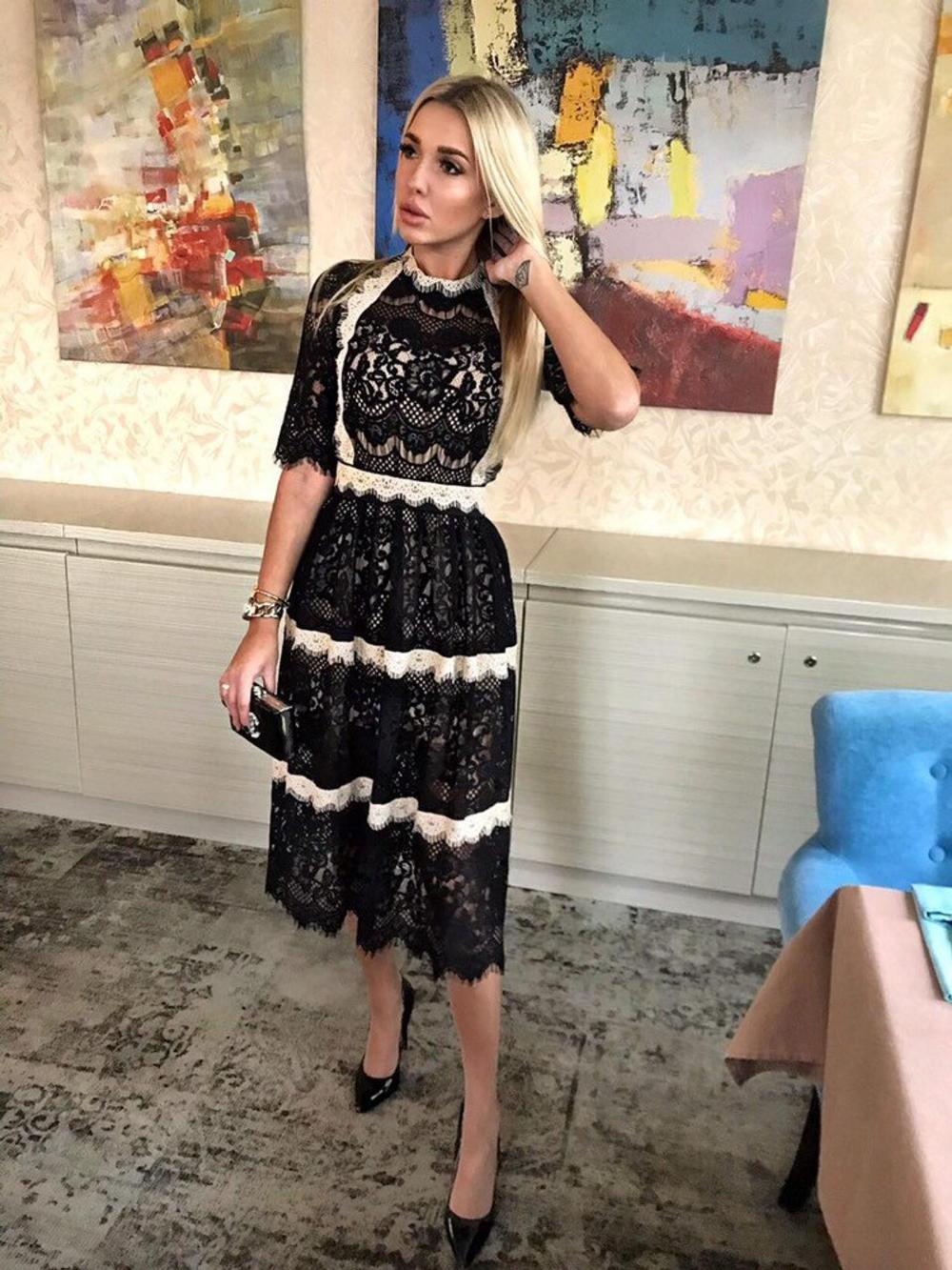 black prom dress,boho midi dress,lace wedding dress,boho