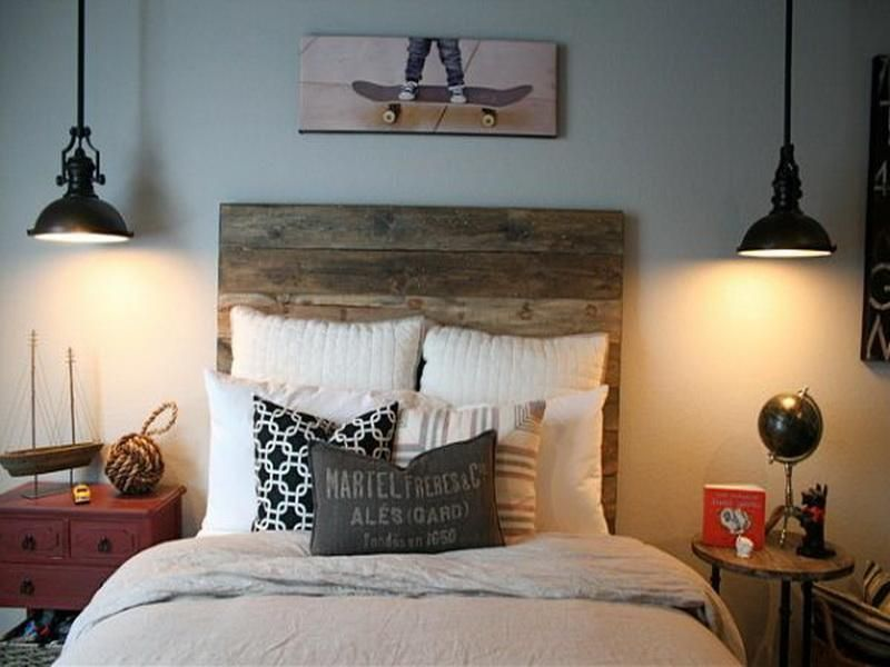 Furniture, Simple Making Design Of Cheap Do It Yourself Bedroom Wooden Rustic Cheap Make Your Own Bedroom Diy Cheap Bedroom Ideas Combine Pendant Lamps Diy Simple Cheap Bedroom With Wooden Headboard: Finding More Helps to Create Cheap DIY Bedroom Design Ideas