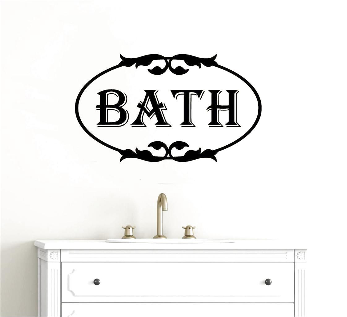 Bathroom wall decor vinyl decal wall sticker words lettering wall