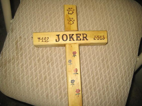 Pet Memorial Wooden Cross Personalized Your Way Small
