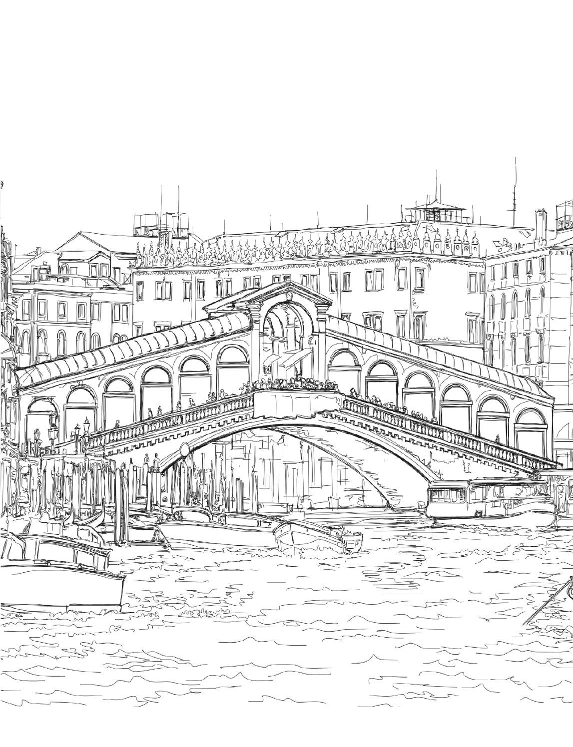 venice coloring book for adults   coloring books, venice and books - Apartment Building Coloring Pages