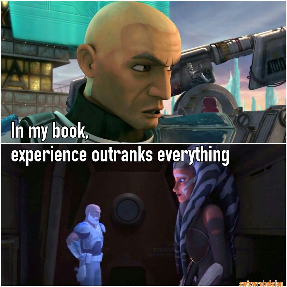 In My Book Experience Outranks Everything
