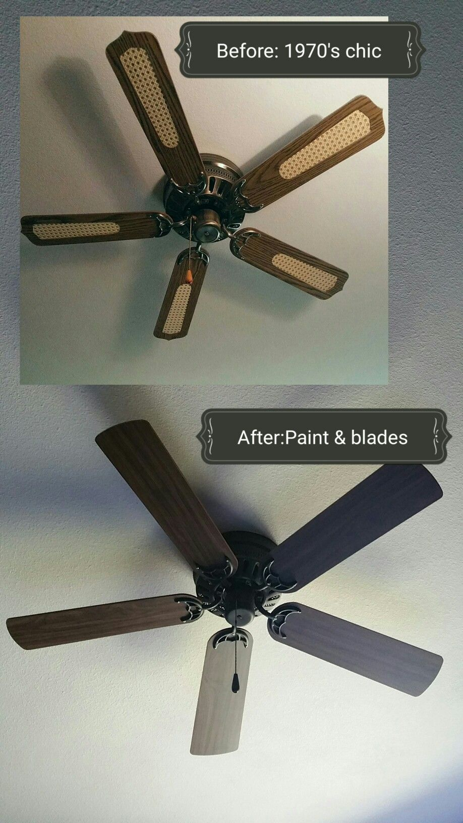 12 Ceiling Fan Update And Upgrade Using Charcoal Or Black Chalk