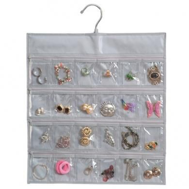Howards Storage World 24 Pocket Ring Small Jewellery Organiser w