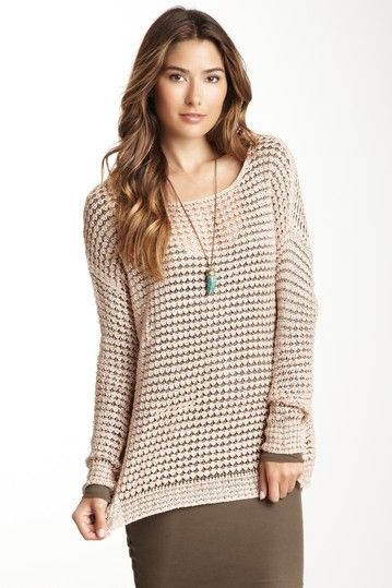 Yes please! Love this for a chilly beach day. Long Sleeve Lurex ...