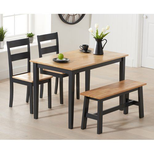 Brambly Cottage Kathrine Dining Set With 2 Chairs And 1 Bench In