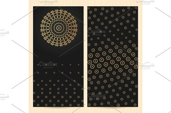 Sards 4x8 Inch Size With Logo 1 Abstract Geometric Pattern Recipe Cards Template Card Templates