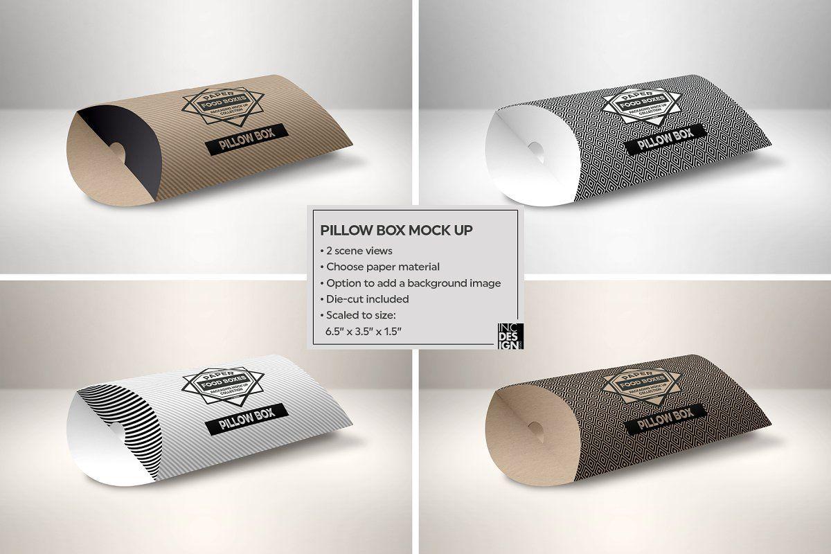 Pillow Box Packaging Mockup Packaging Mockup Box Packaging Design Free Packaging Mockup