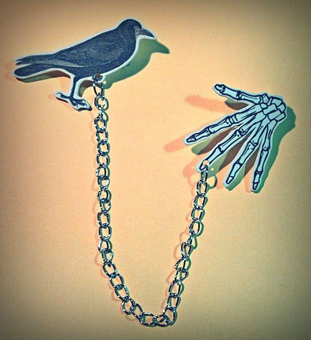 Broches dobles  Dark  cuervo