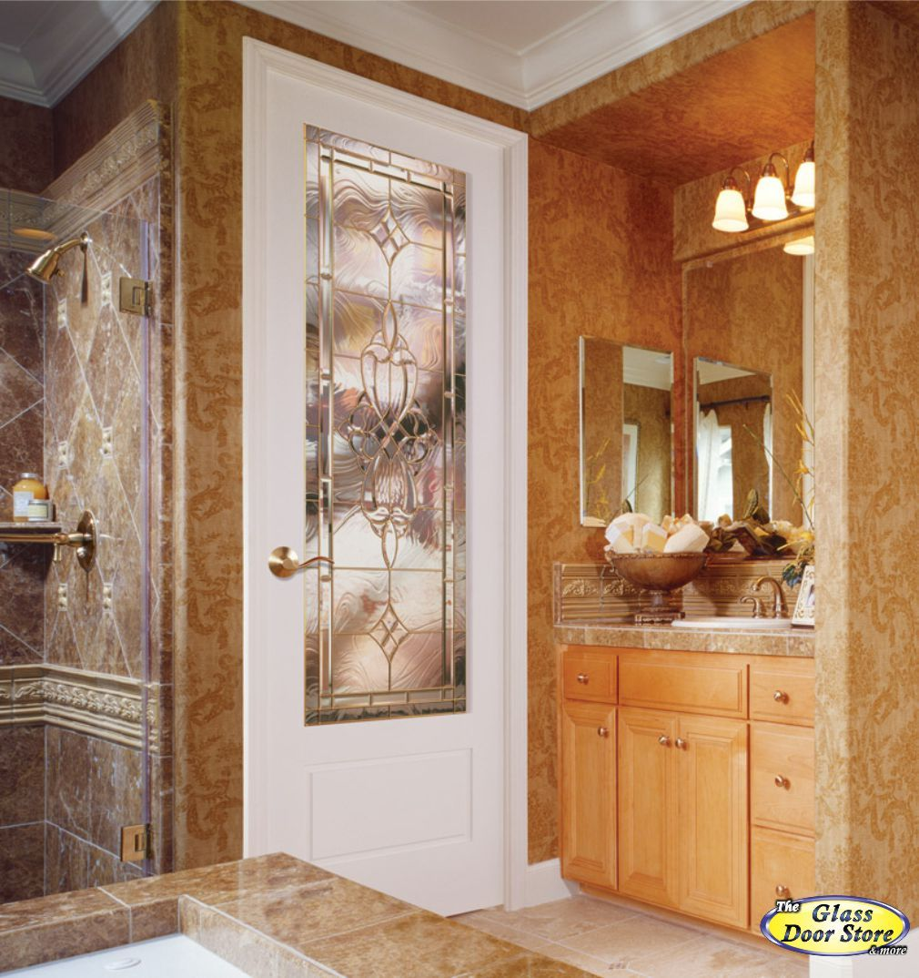 Interior glass door bathroom - Interior Glass Door In 8 Ft Bathroom To Master Bedroom Stained Glass In 3