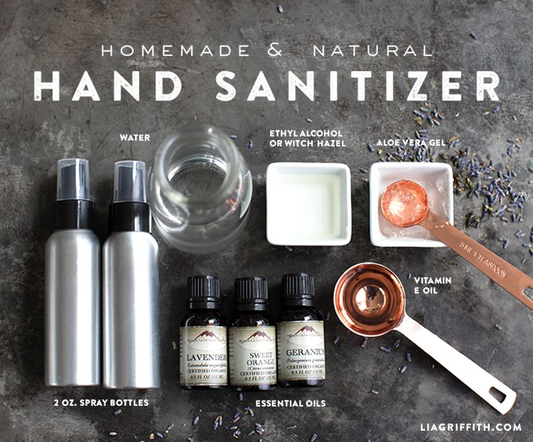 Hand Sanitizer Spray With Essential Oils Natural Hand Sanitizer