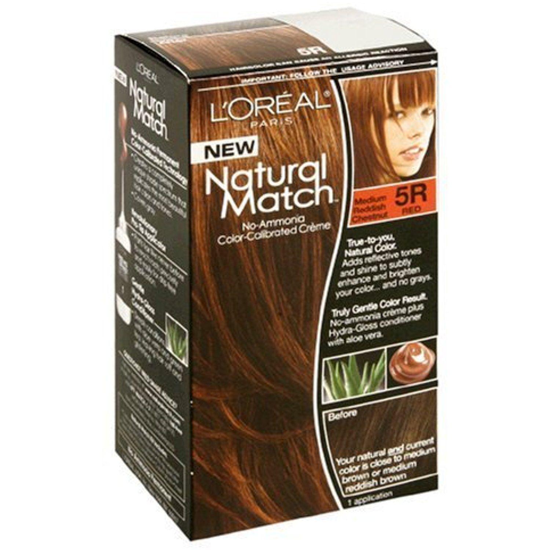 Loreal Natural Match Hair Color 5r Medium Reddish Chestnut 2 Pack