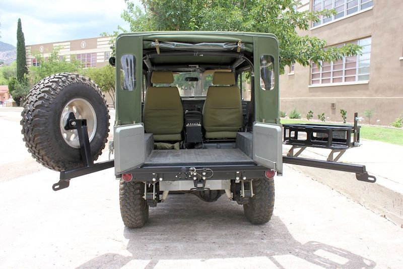 4plusproducts Fj40 Tire Carriers Rear Tow Bumper With Tire And Cooler Carrier Fj40 Towing Fj Cruiser
