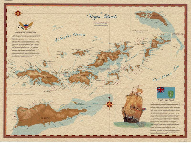 Virgin Islands Map Home Is Where The Is Pinterest Virgin - Us map with virgin islands