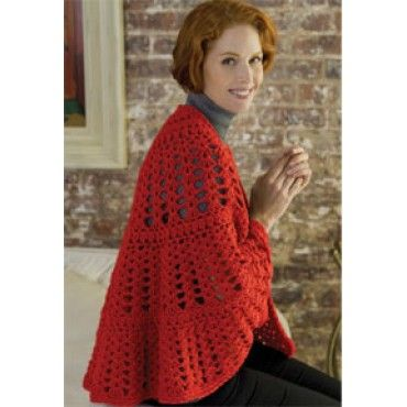 Mary Maxim - Free Have a Heart Shawl Crochet Pattern - Patterns & Books