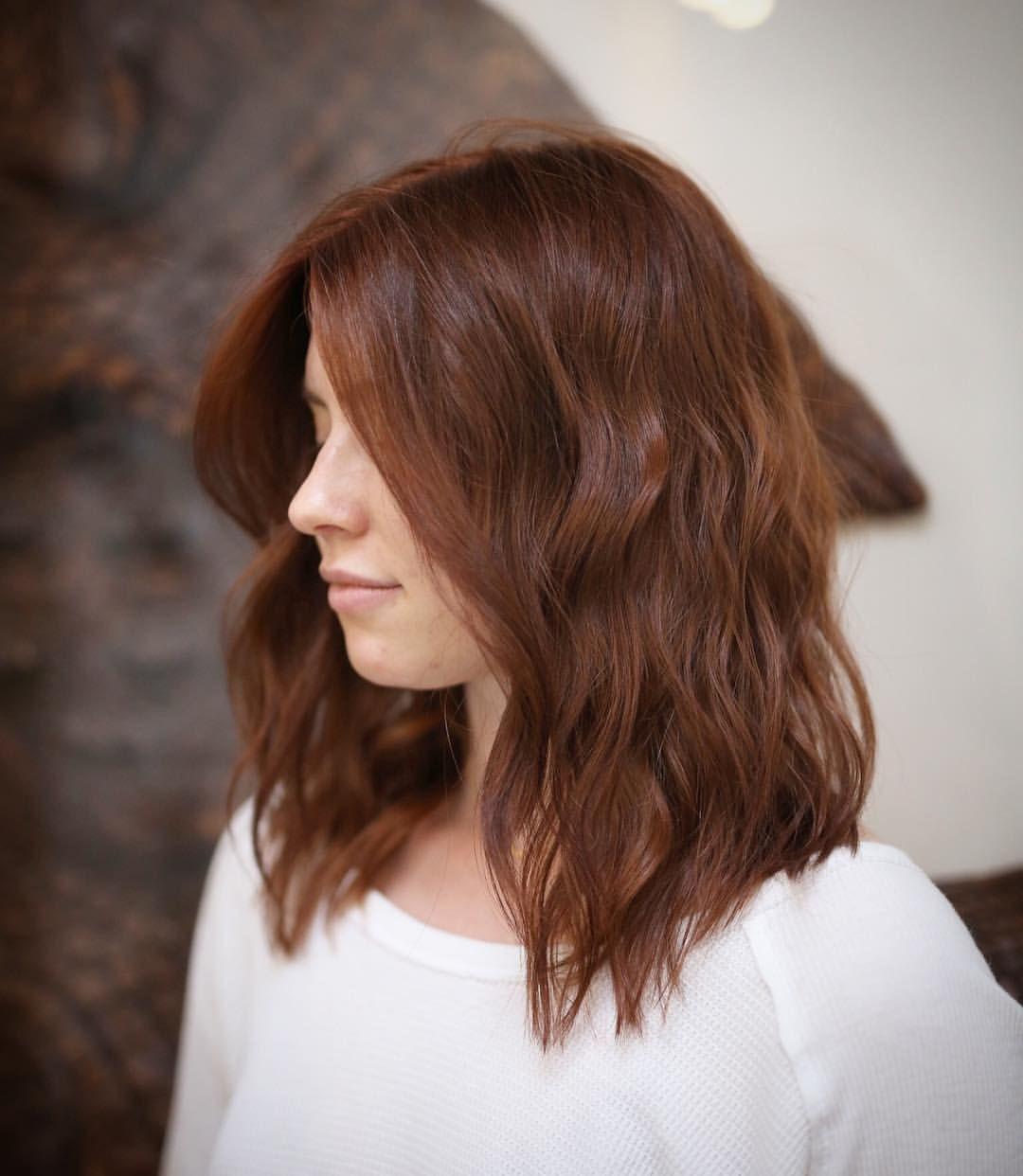 "#auburn hair Hairstylist Los Angeles Ca on Instagram: ""Long layered mid-length…"