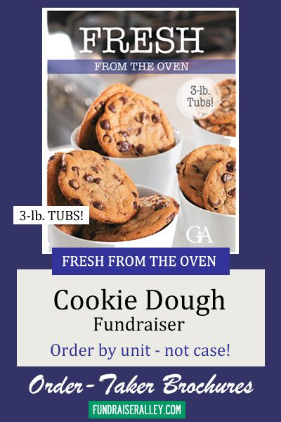 Fresh From the Oven Cookie Dough Fundraising Brochures Order-Taker