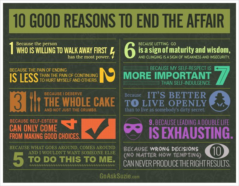 10 Good Reasons To End The Affair Ending Quotes Affair 10 Things