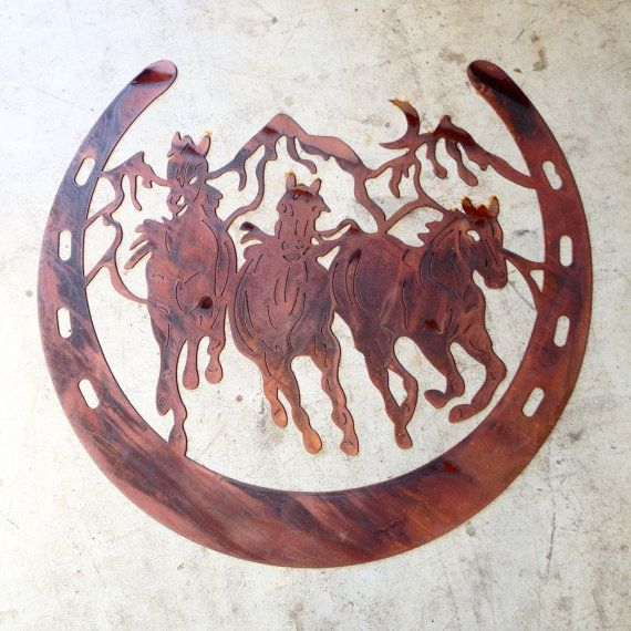 Course de cheval 4 pi CNC plasma cut out fait main par haagmade