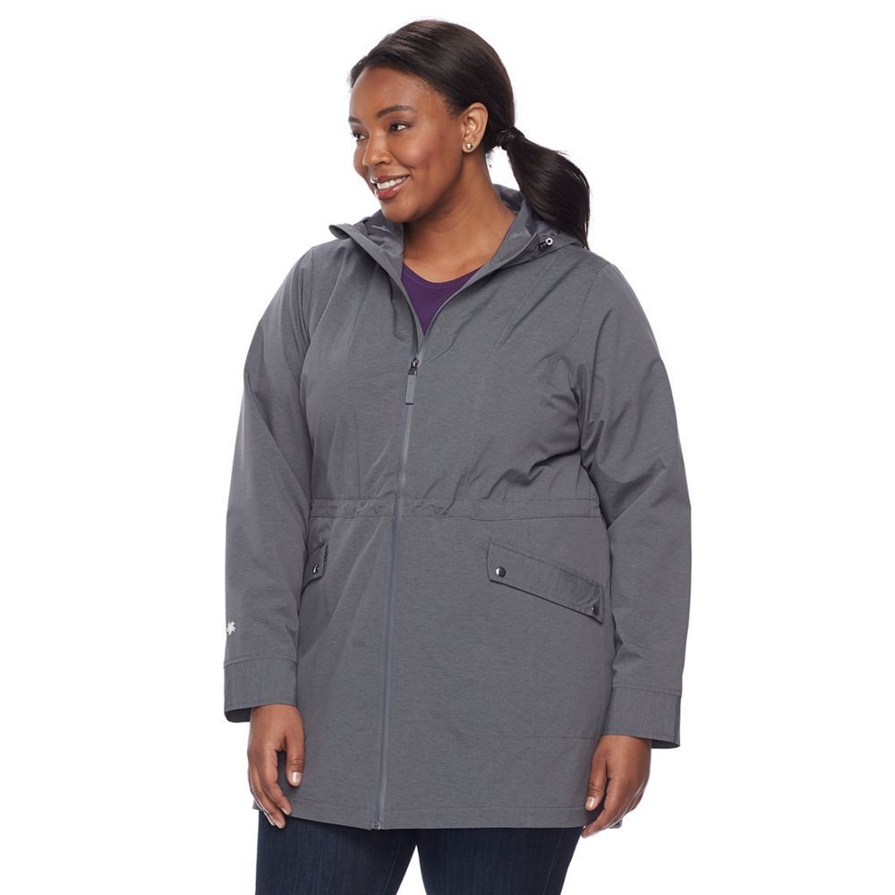 plus size tek gear hooded rain jacket, women's, size: 3xl
