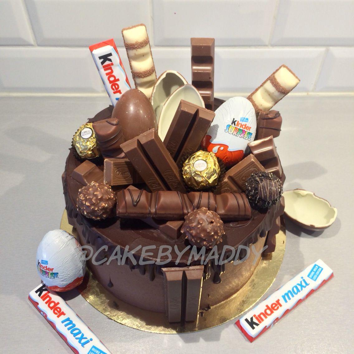 kinder surprise cake design Kinder Cake  Chocolate cake decoration, Chocolate heart cakes, Cake