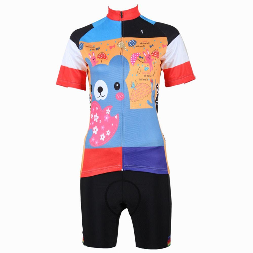 a98561a80 Cycling Jersey Set Women Cartoon Small Flower Bear Cycling Clothing Women  T-shirt Short Sleeve Women Cycling Clothes Jersey X210  Affiliate
