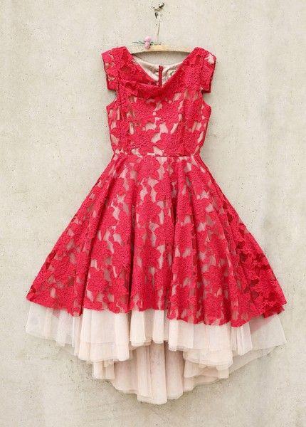 94c7cbdecf1fd Joyfolie Red Lace Dress Jacqueline PREORDER | Joyfolie | Red dresses ...