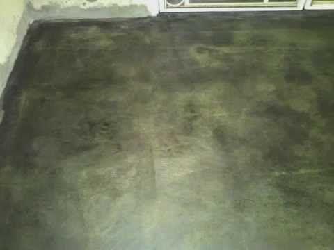 Oxido de cemento aplicaci n paso a paso youtube - Como limpiar piso de cemento pulido ...