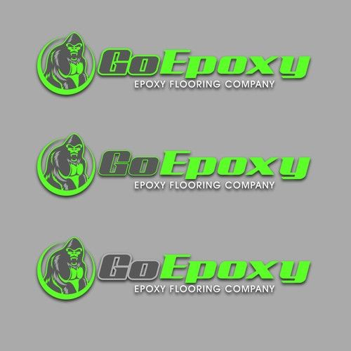 Go Epoxy Logo With Mascot Or Icon For Epoxy Flooring Company