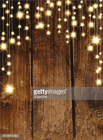 Vector Art  Blank invitation design template with string lights - fresh invitation card plain