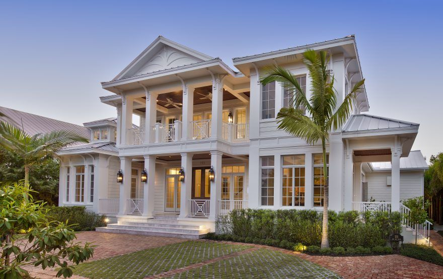 Naples, FL. Architects Design Old Florida Style Home