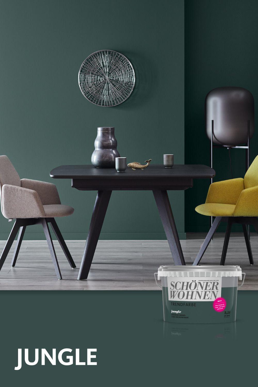Trendfarbe Jungle Schoner Wohnen Farbe Schoner Wohnen Wandfarbe Wohnzimmerdekoration
