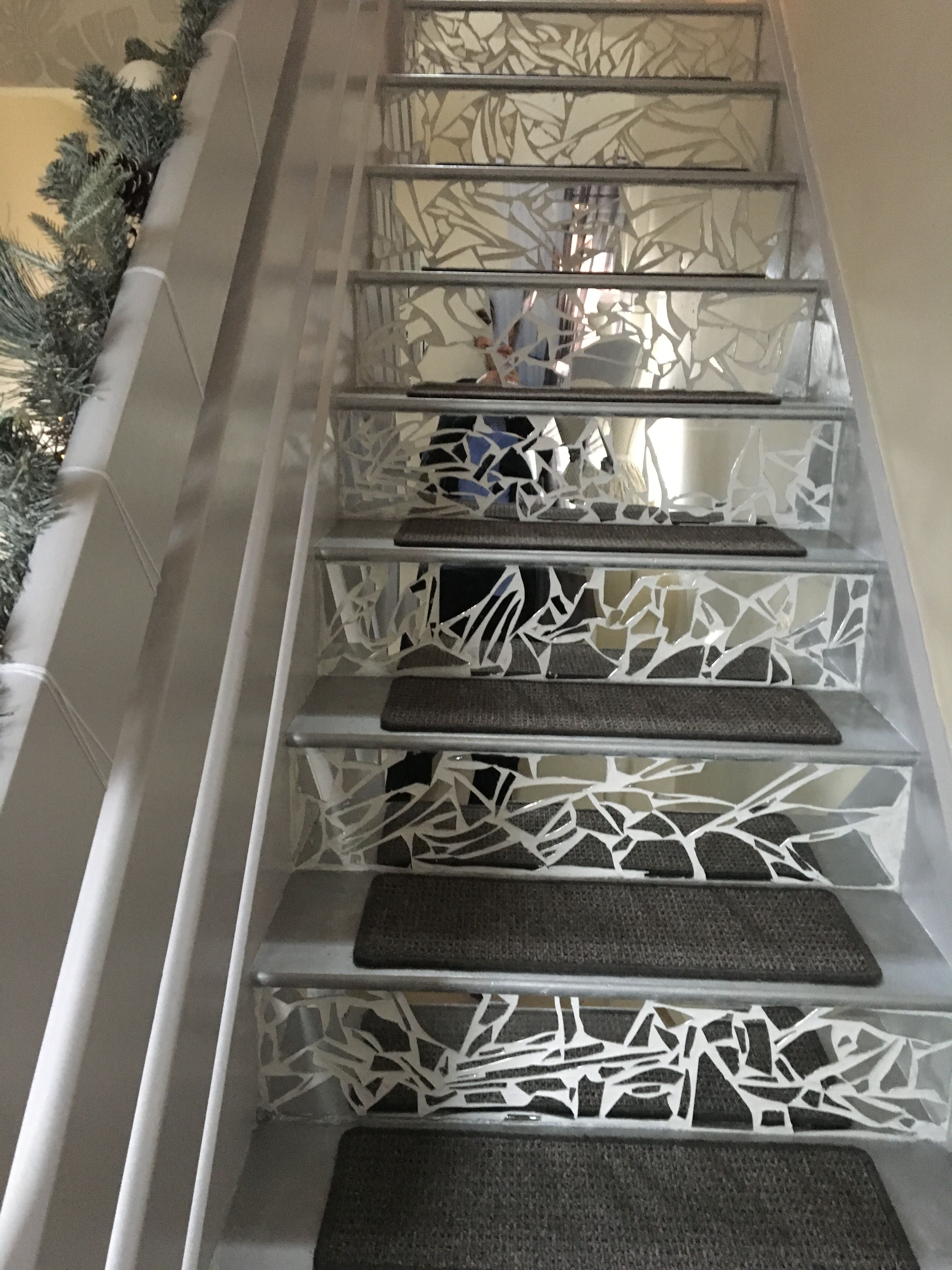 Mirror Mosaic Stairs Diy