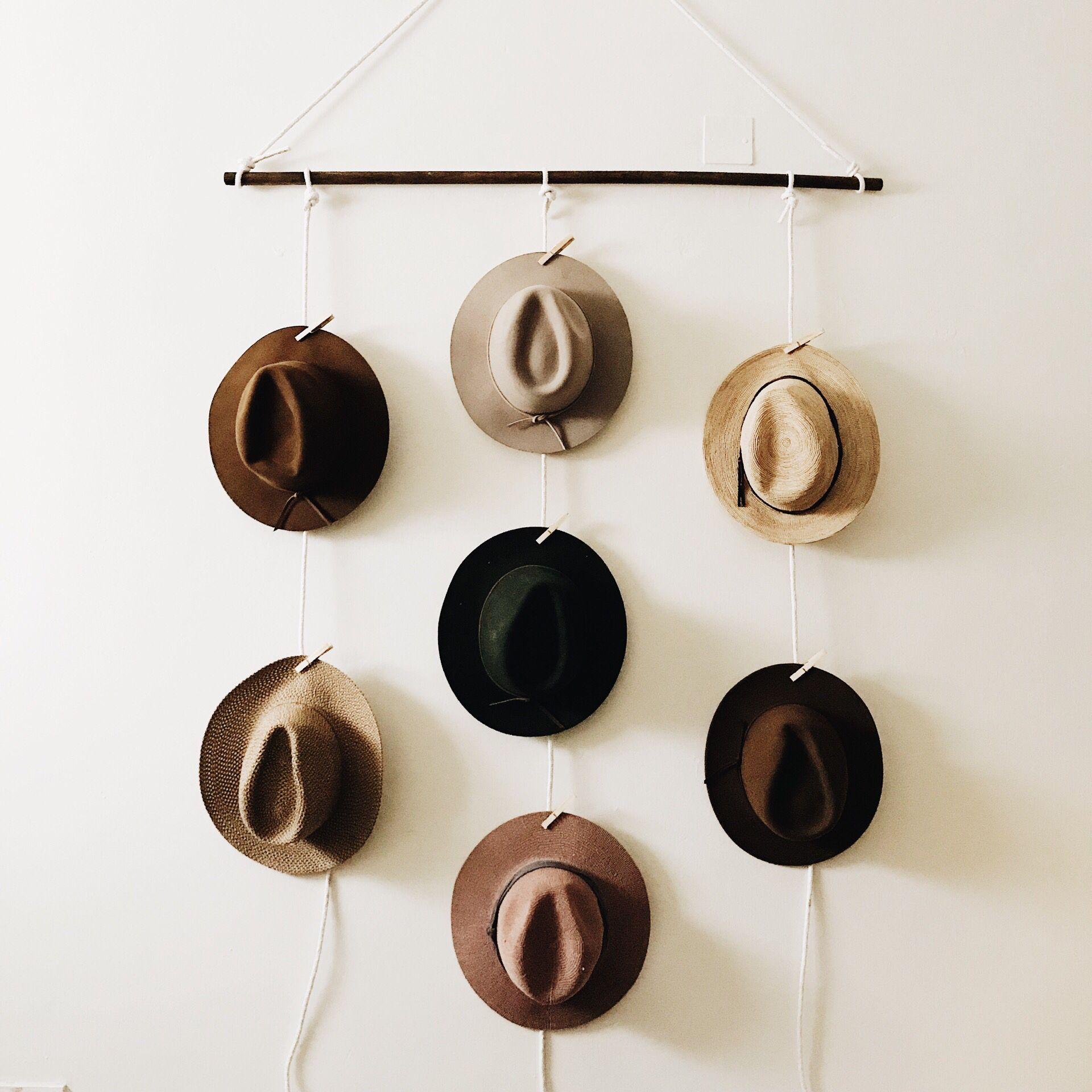 Diy Hat Holder Diy Hat Holder Diy Hat Hanger Diy Wall Decoration
