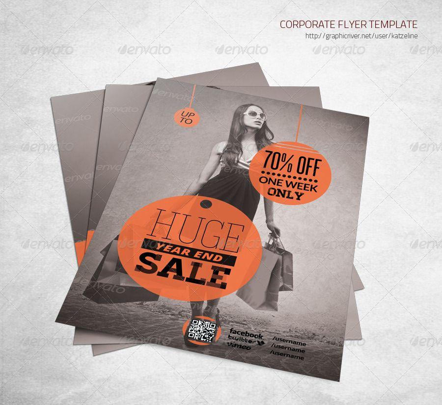 Shopping Store Sale Flyer Template Sale Flyer Flyer Template Flyer