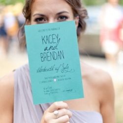 Top 10 Lovely New Wedding Programs (image: frost photography, program by hoopla love)