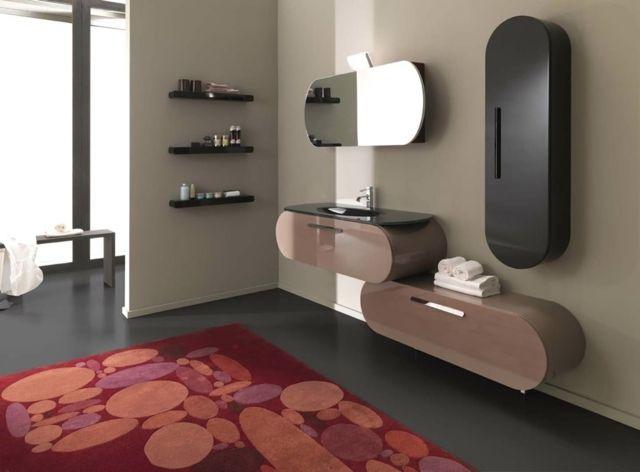 Badgestaltung Ideen Spiegelschrank Holz Modern Originelle