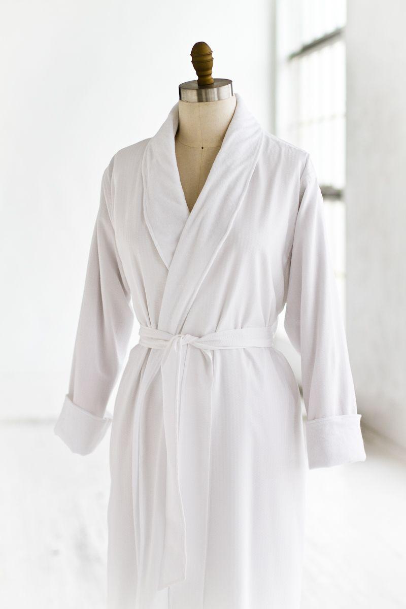 Terry Seersucker White Spa Robe — LUXURY SPA ROBES  23dc5137f