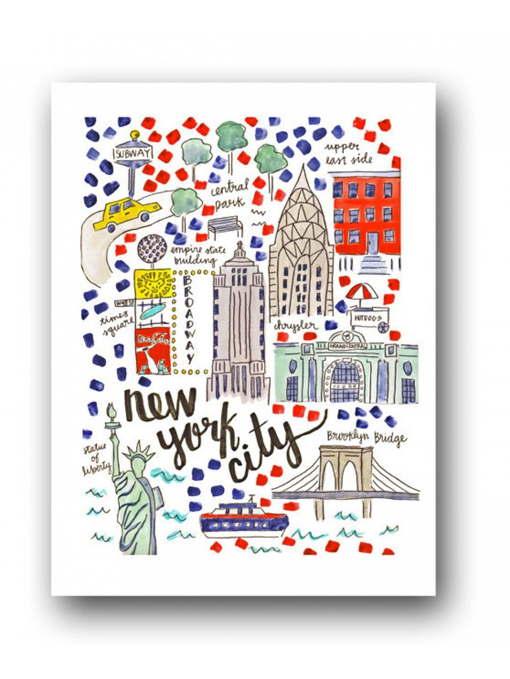 New York City Map Print City Maps - New york map city