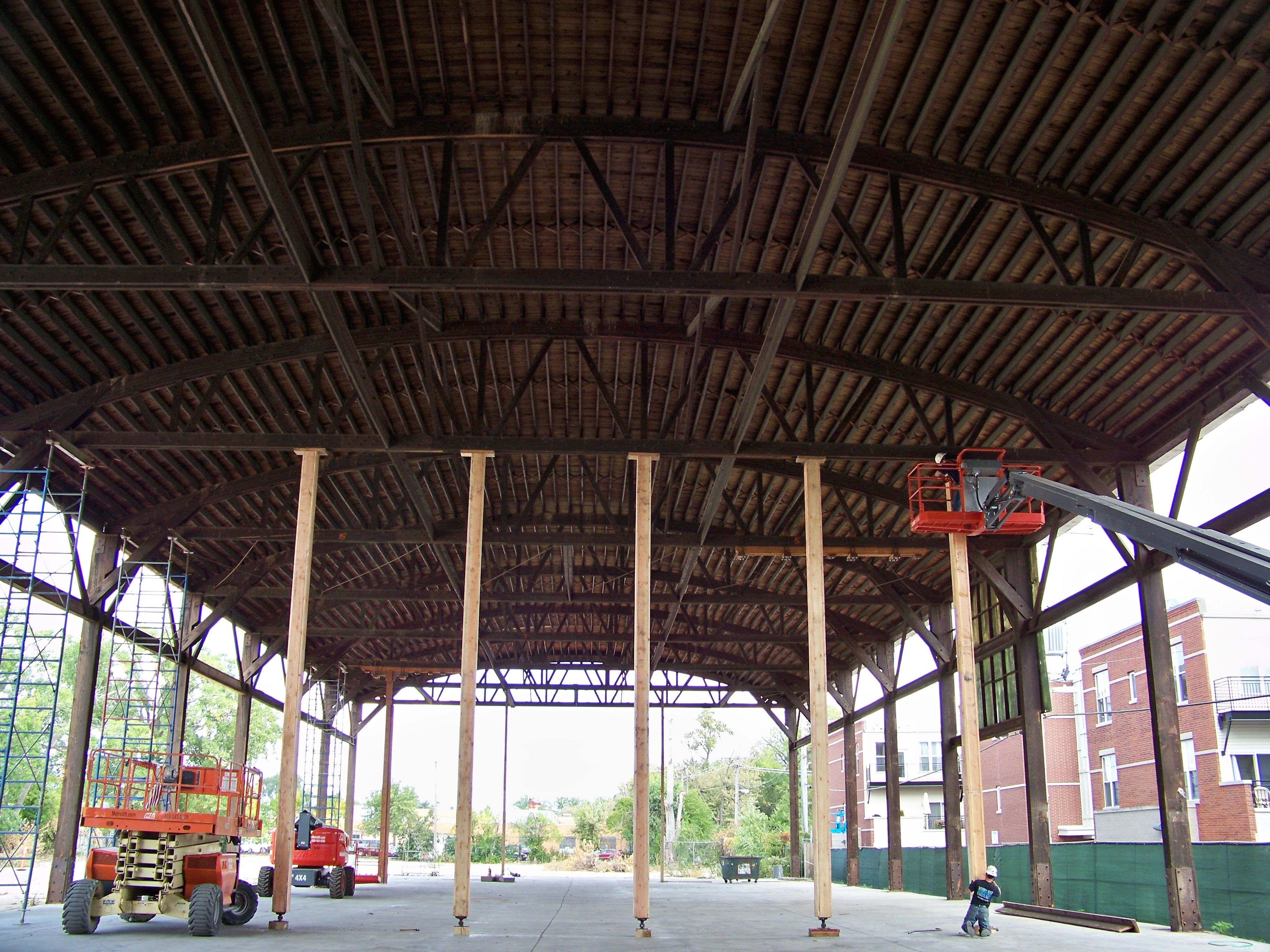 Bowstring Truss Repair By Wooden Roof Structures Inc