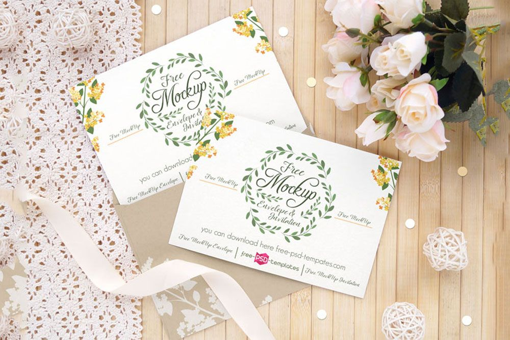 Download This Wedding Invitation Card Mockup Free Psd With Images